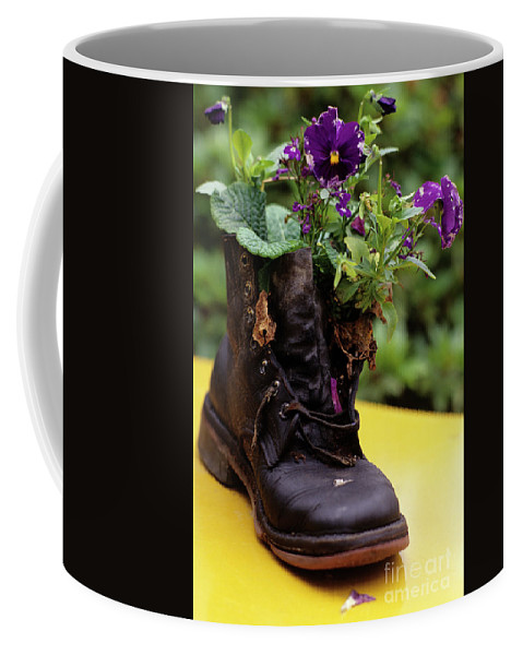 Nature Coffee Mug featuring the photograph Flower Shoe Pot by Jim Corwin
