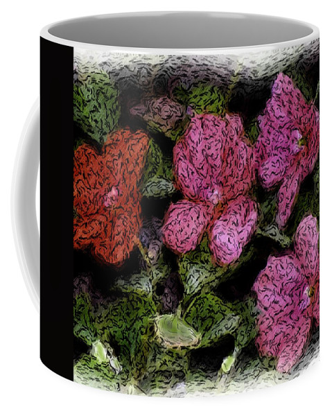 Digital Photograph Coffee Mug featuring the photograph Flower Sketch by David Lane
