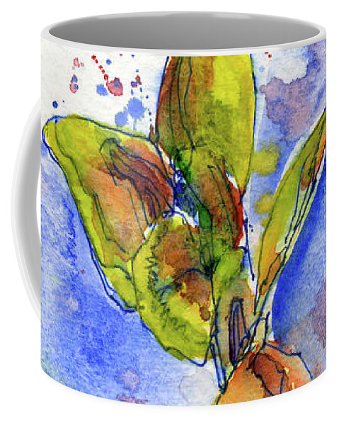 John D Benson Coffee Mug featuring the painting Flower Two by John D Benson