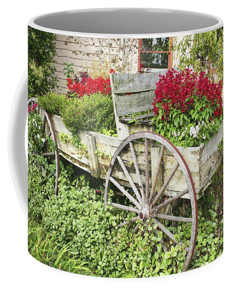 Wagon Coffee Mug featuring the photograph Flower Wagon by Margie Wildblood
