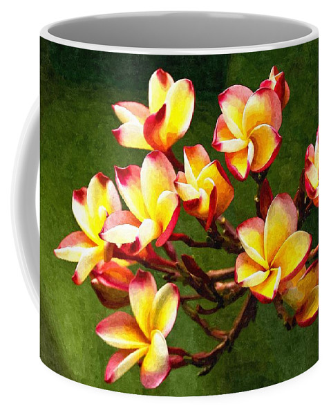 Branch Coffee Mug featuring the digital art Flowerage by Max Steinwald