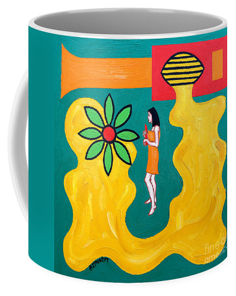 Music Coffee Mug featuring the painting Flowering Melody by Patrick J Murphy