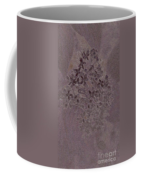 Stones Coffee Mug featuring the digital art Flowerprint by Dominique Favre