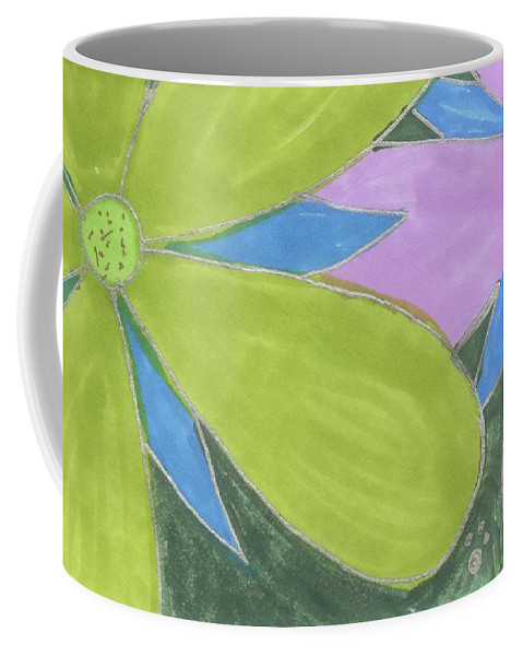 Drawing Coffee Mug featuring the drawing Flowers-13 by Luke Anichini