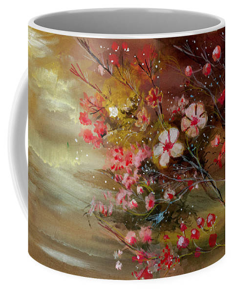 Nature Coffee Mug featuring the painting Flowers 2 by Anil Nene
