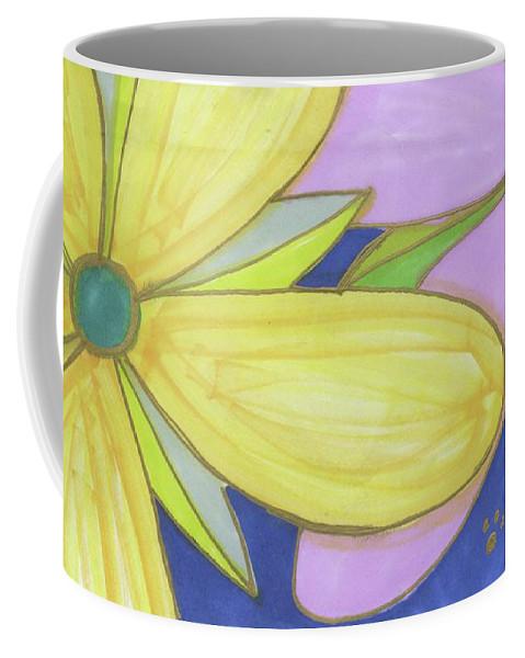 Drawing Coffee Mug featuring the drawing Flowers-5 by Luke Anichini