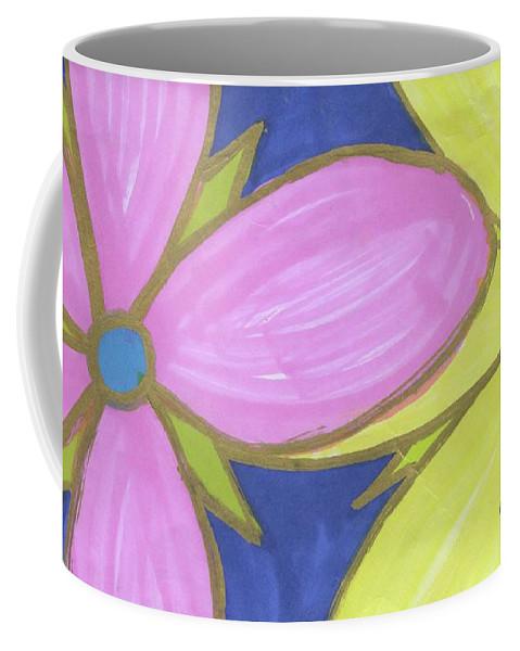 Drawing Coffee Mug featuring the drawing Flowers-9 by Luke Anichini