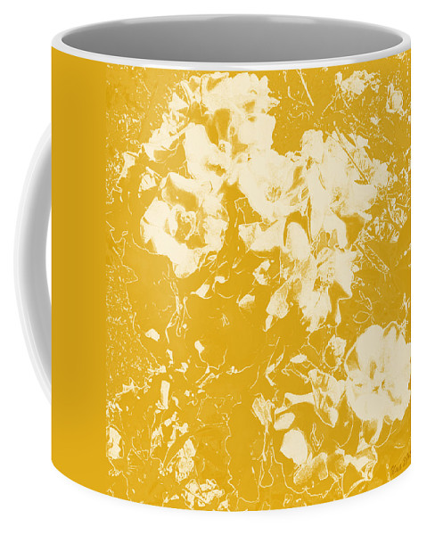 Flowers Coffee Mug featuring the digital art Flowers Abstract 3 by Uma Krishnamoorthy