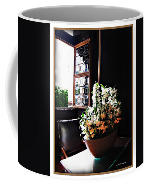 France Coffee Mug featuring the photograph Flowers At Chenonceau by Joan Minchak