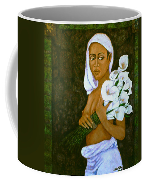 Love Coffee Mug featuring the painting Flowers For An Old Love by Madalena Lobao-Tello