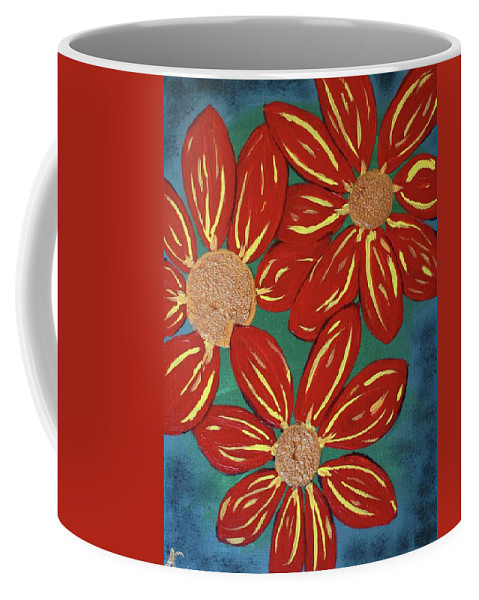 Flowers Coffee Mug featuring the painting Flowers For M by Amy Craft