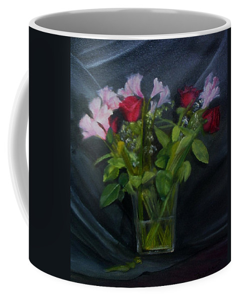 Flowers Coffee Mug featuring the painting Flowers For Sarah by Sheila Mashaw