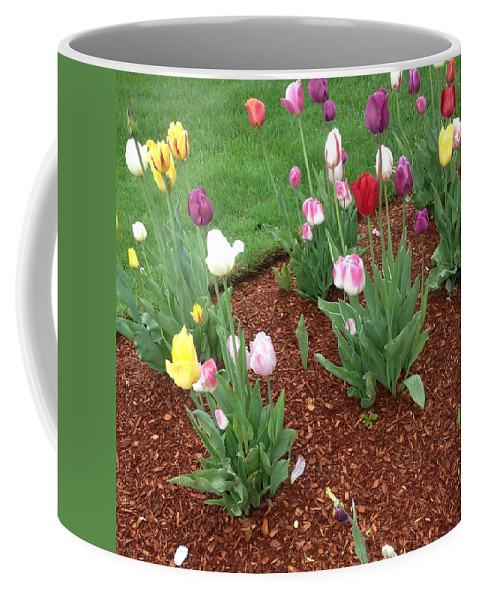 Coffee Mug featuring the photograph Flowers For The Fallen But Not Lost by Ronald Carlino