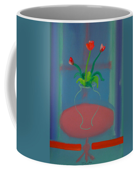 Dufy Coffee Mug featuring the painting Flowers In A Bay Window by Charles Stuart