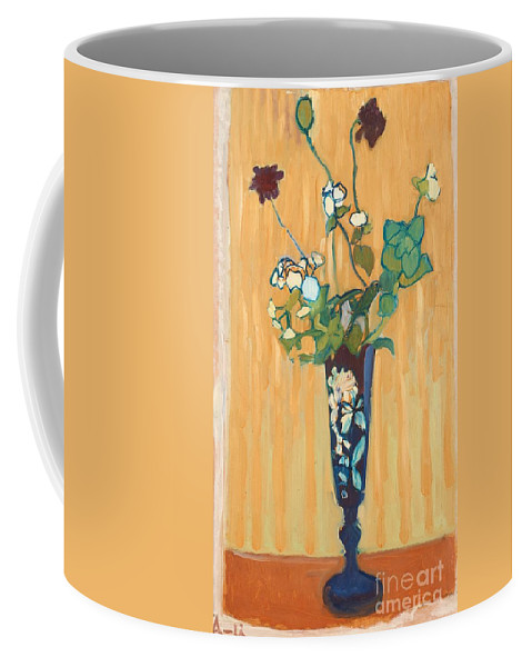 Coffee Mug featuring the painting Flowers In A Vase by MotionAge Designs