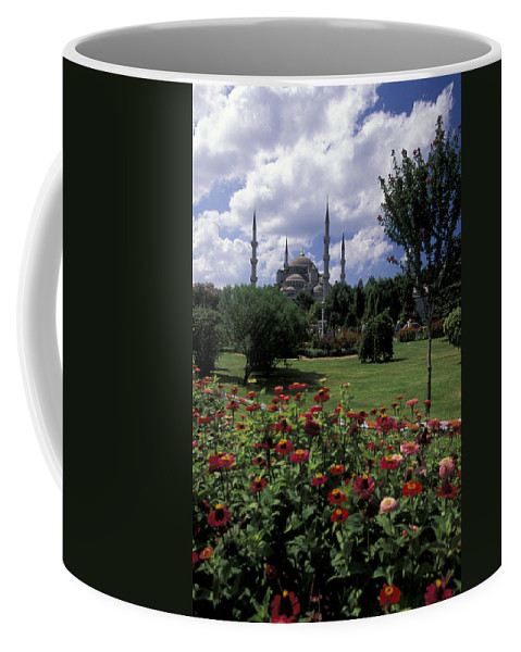 Flowers Coffee Mug featuring the photograph Flowers In Sultanahmet Square by Richard Nowitz