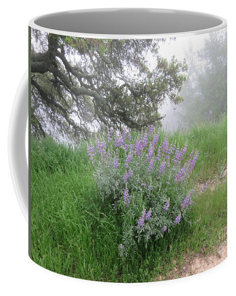 Flowers Coffee Mug featuring the photograph Flowers On A Foggy Day by Suzanne Leonard