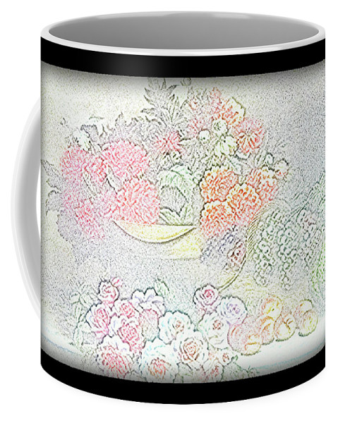 Flowers Coffee Mug featuring the drawing Flowers Painting by Vijay Barath