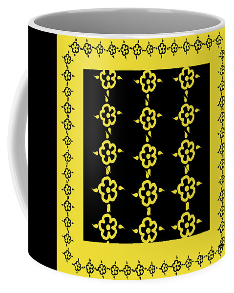 Pattern Coffee Mug featuring the digital art Flowers Pattern by Monika Lemeshonok