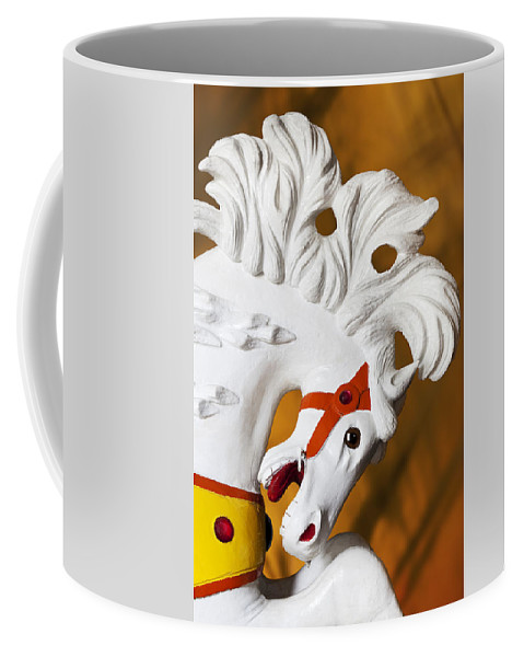 Carousel Coffee Mug featuring the photograph Flowing Mane 1 by Kelley King