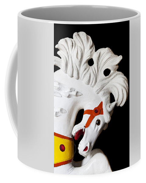 Carousel Coffee Mug featuring the photograph Flowing Mane 2 by Kelley King