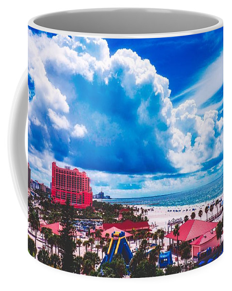 Clearwater Beach Coffee Mug featuring the photograph Fluffy Clouds Over Clearwater Beach by Pixabay