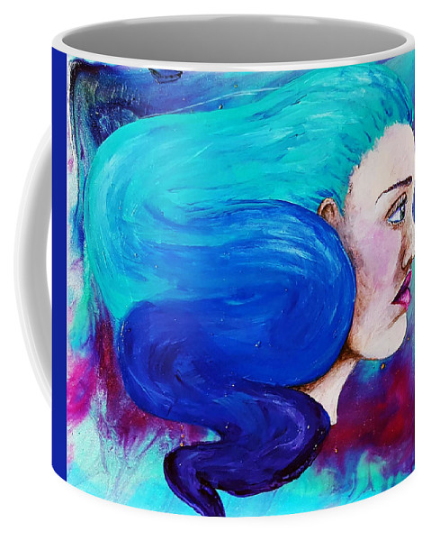 Painting Coffee Mug featuring the painting Fluid Delusion by Hunter Davis