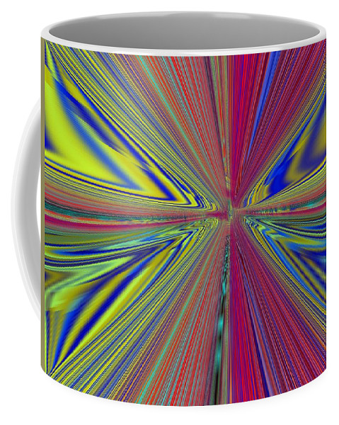 Abstract Coffee Mug featuring the digital art Fluid Motion by Tim Allen