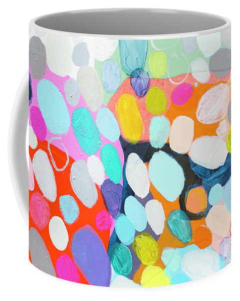 Abstract Coffee Mug featuring the painting Flushed by Claire Desjardins