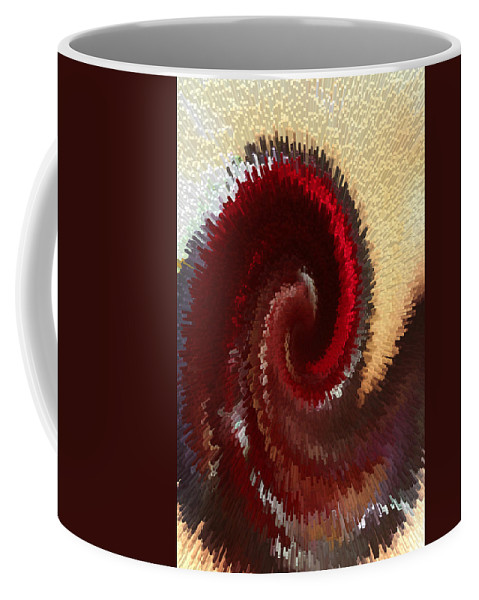 Abstract Coffee Mug featuring the photograph Flushed by Marnie Patchett