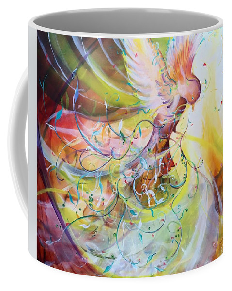 Dove Coffee Mug featuring the painting The Storm by Amy Green