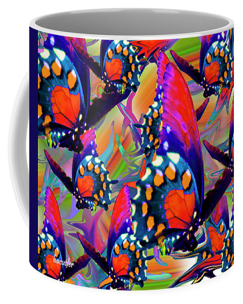 Butterfly Coffee Mug featuring the digital art Fly Away by Betsy Knapp