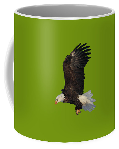 Bald Eagle Coffee Mug featuring the photograph Fly By by Shane Bechler