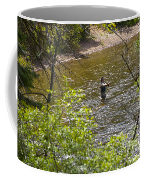 Fishing Coffee Mug featuring the photograph Fly Fishing by Louise Magno