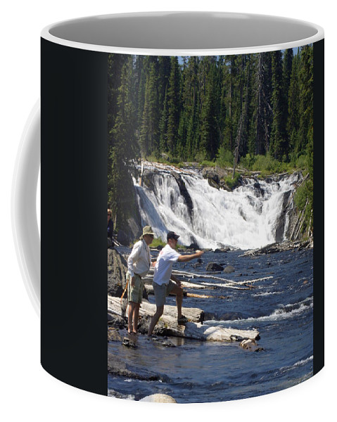 Fly Fishing Coffee Mug featuring the photograph Fly Fishing The Lewis River by Marty Koch