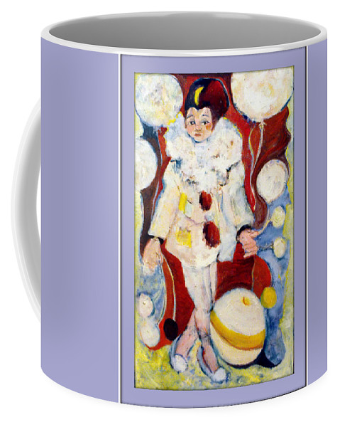 Periot Coffee Mug featuring the painting Fly Over The Moon by Mindy Newman