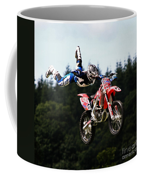 Motorbike Coffee Mug featuring the photograph Fly With Me by Angel Tarantella