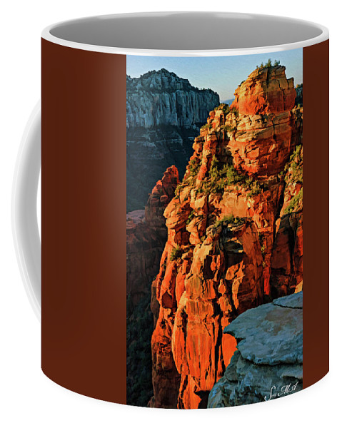 Arizona Coffee Mug featuring the photograph Flying Buttress 06-034 by Scott McAllister