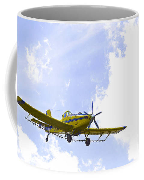 Airplane Coffee Mug featuring the photograph Flying By Wire 1 Of 6 by Charlie Brock