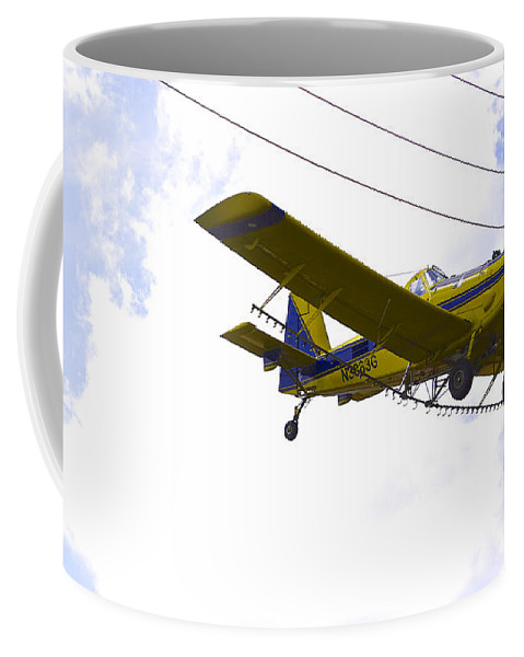 Airplane Coffee Mug featuring the photograph Flying By Wire 4 Of 6 by Charlie Brock