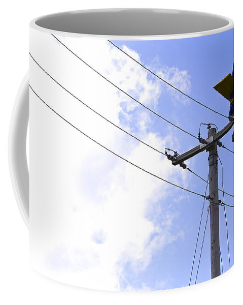 Plane Coffee Mug featuring the photograph Flying By Wire 6 Of 6 by Charlie Brock