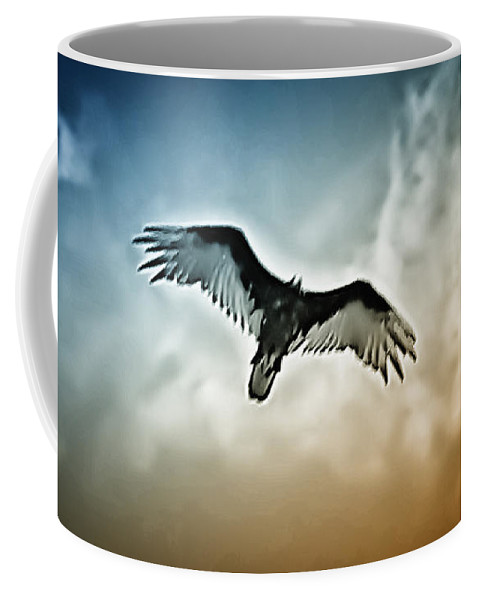 Falcon Coffee Mug featuring the photograph Flying Falcon by Bill Cannon