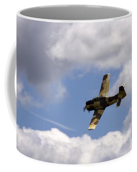 Airshow Coffee Mug featuring the photograph Flying High by Angel Ciesniarska