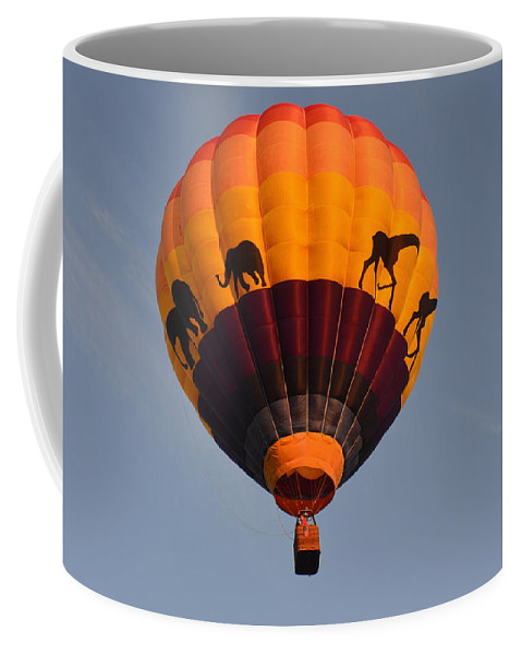 Balloons Coffee Mug featuring the photograph Flying High by Charles HALL