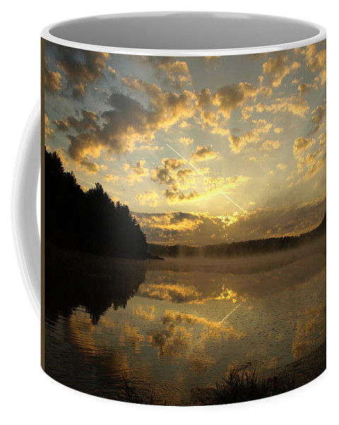 Sunrise Coffee Mug featuring the photograph Flying Reflections by Thomas Young