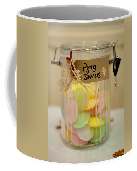 Sweets Coffee Mug featuring the photograph Flying Saucers by Helen Northcott