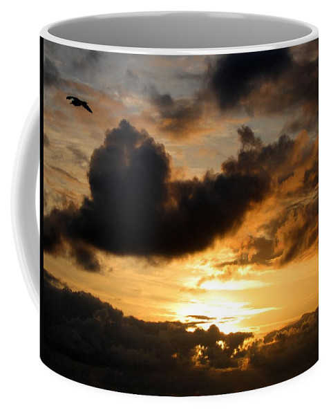 Seagull Coffee Mug featuring the photograph Flying Solo by Will Borden