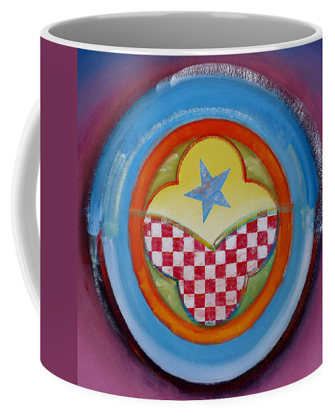 Logo Coffee Mug featuring the painting Flying Star by Charles Stuart