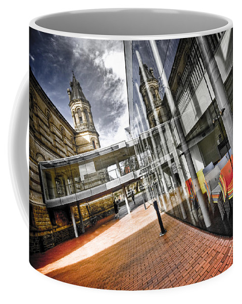 Flyover Coffee Mug featuring the photograph Flyover by Wayne Sherriff
