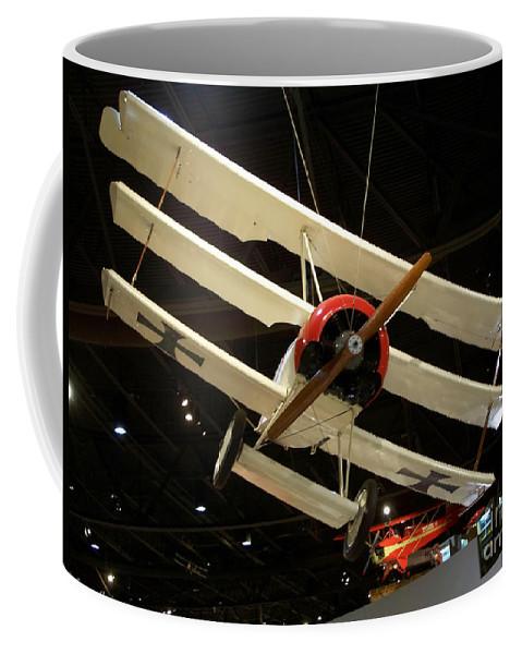 Focker Tri-plane Coffee Mug featuring the photograph Focker Tri-plane by Tommy Anderson